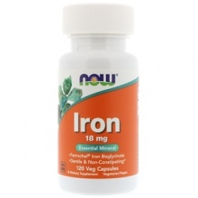 Витамины Now Foods Iron 120 капсул